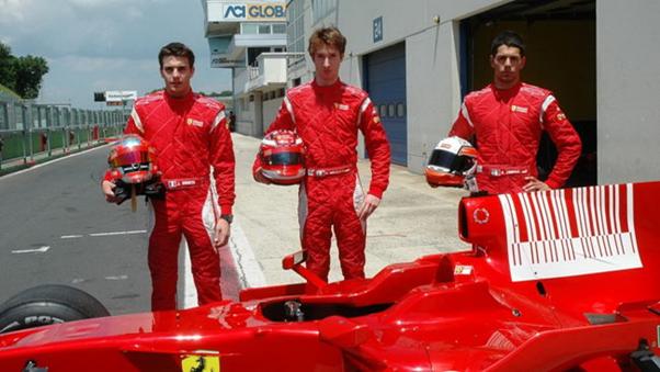 Bianchi/Bortolloti/Zampieri lors d'un essais à Vallelunga en Italie